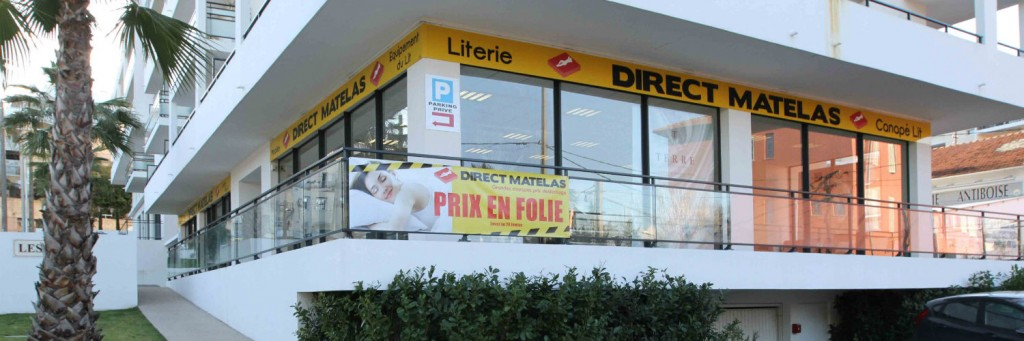 La boutique de Direct Matelas à Antibes