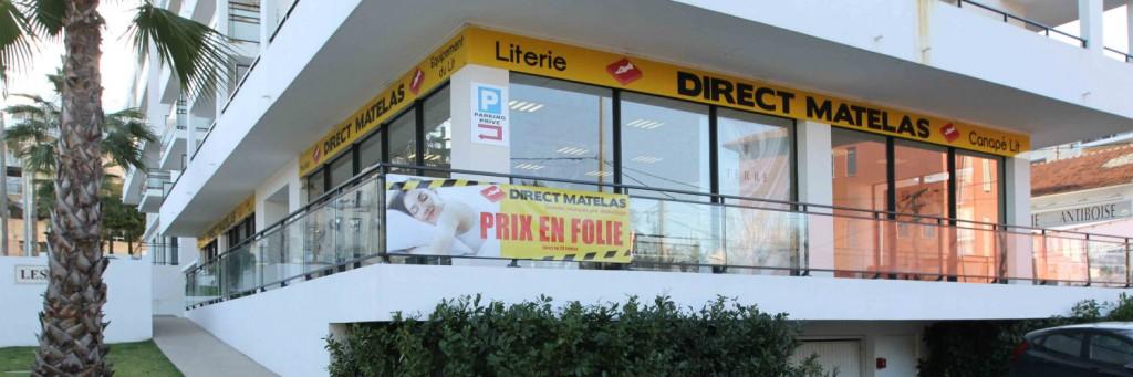 La boutique de Direct Matelas à Antibes