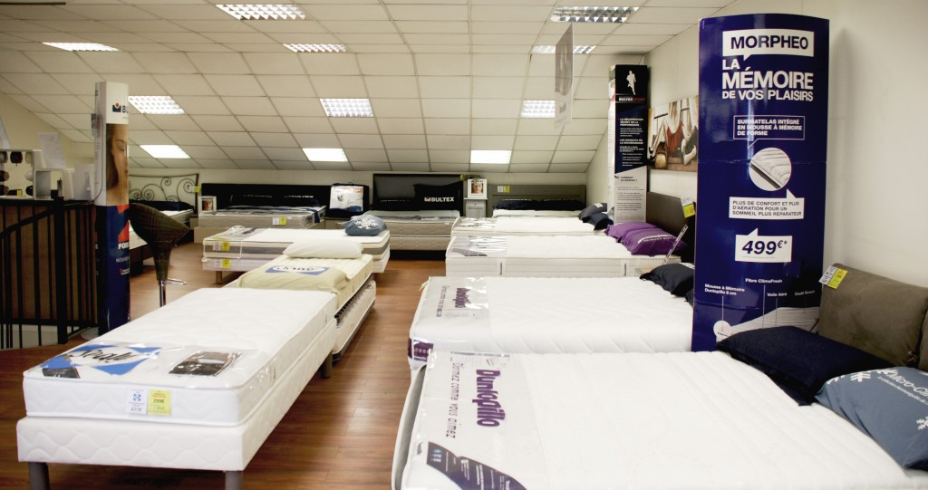 La boutique de Direct Matelas à Nice